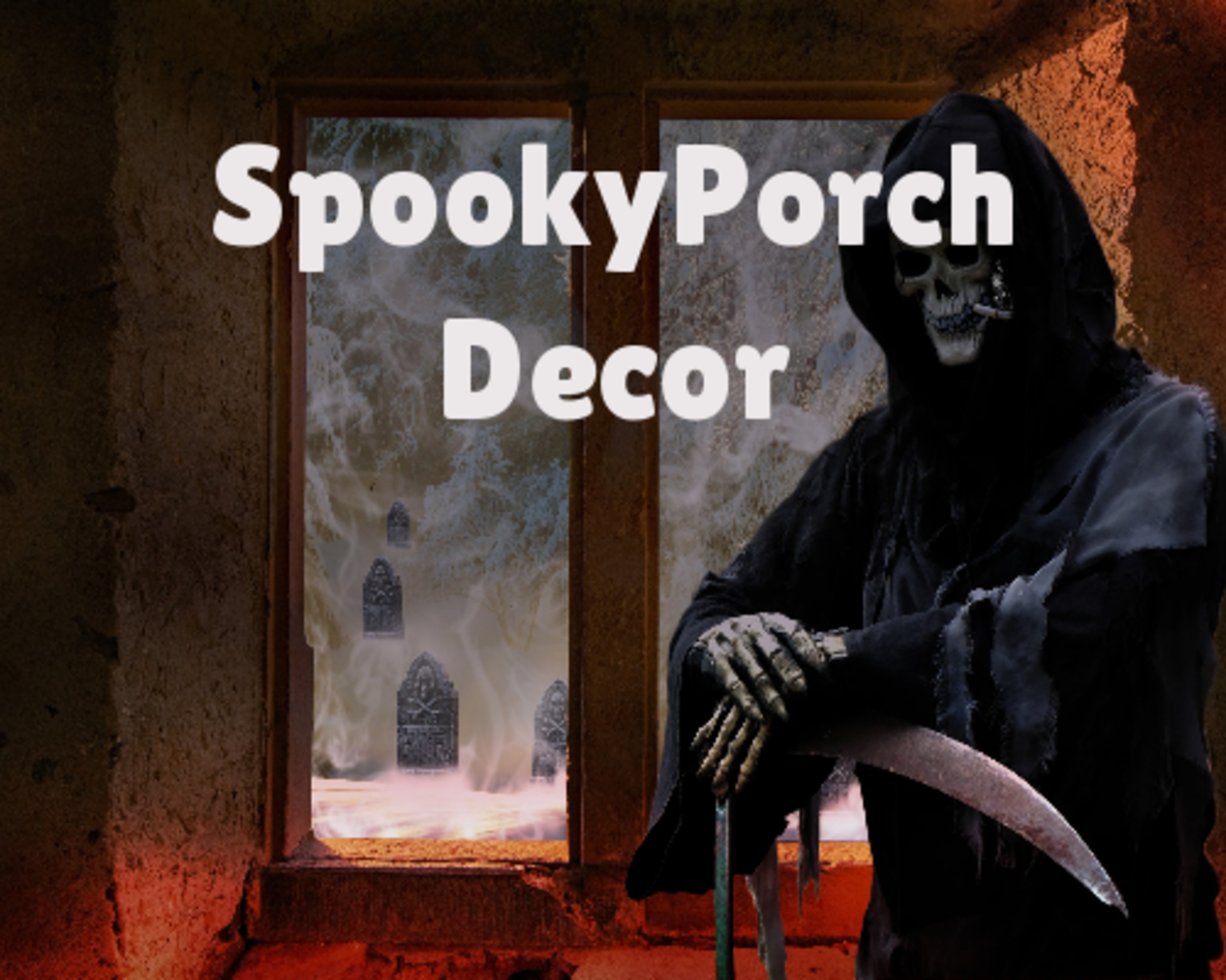 Spooky Porch Decor