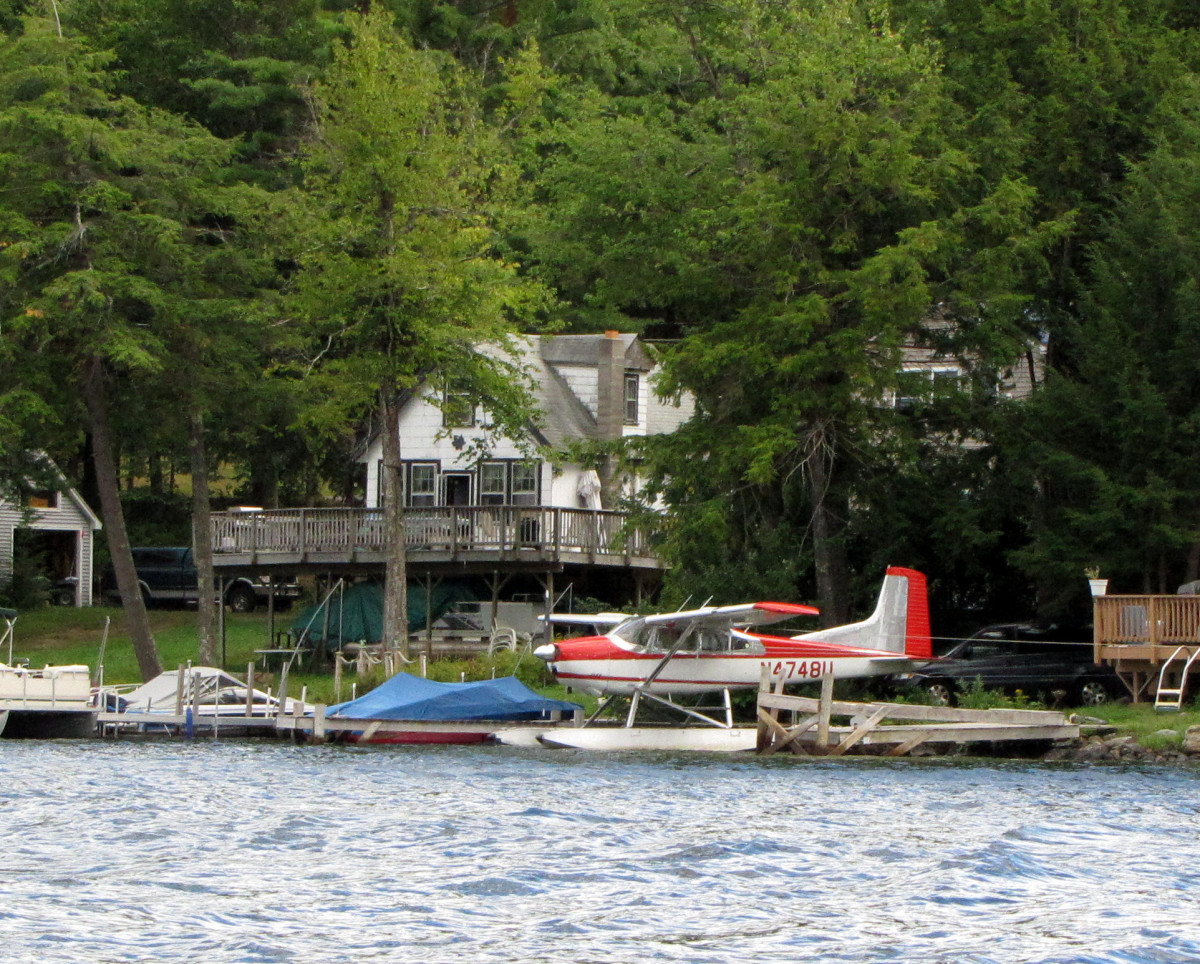 New Hampshire cottage on a lake.