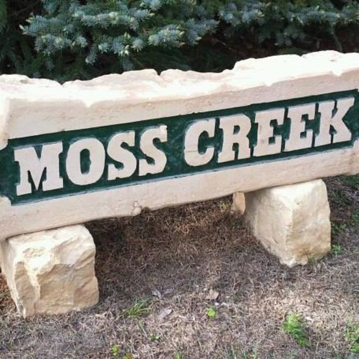The sign at my sister's home in the country. They had it made from Kansas limestone.