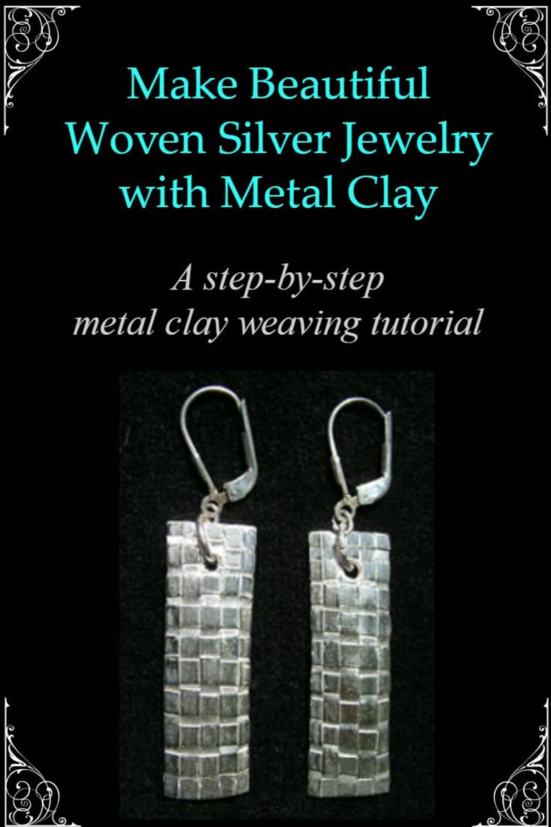 Learn to make beautiful woven metal jewelry by weaving metal clay strips cut from thin, flexible sheet clay in this illustrated step-by-step tutorial.