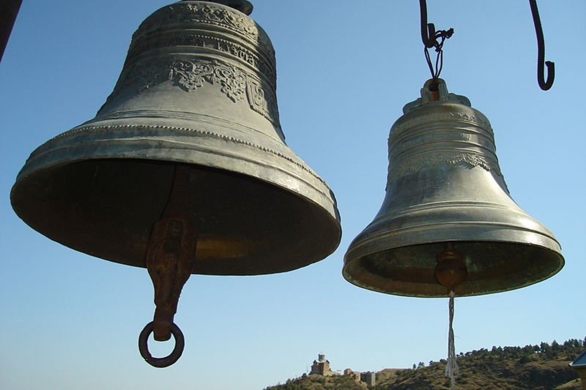 Bells of Saint Nicholas Church at Narikala, Tbilisi, Georgia
