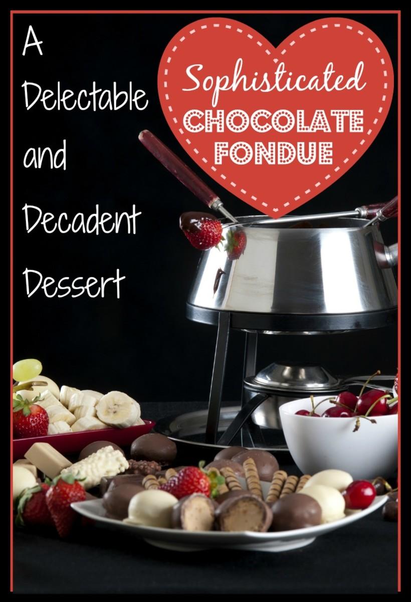 Dark Chocolate Fondue With Honey and Cognac Recipe