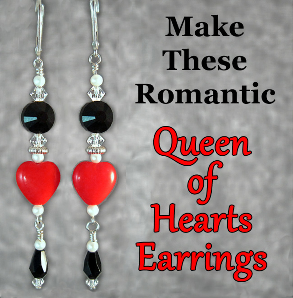 Make these beautiful, easy heart dangle earrings to wear or give as a Valentine's Day, Mother's Day, anniversary or birthday gift, or for bridal or bridesmaid jewelry gifts.