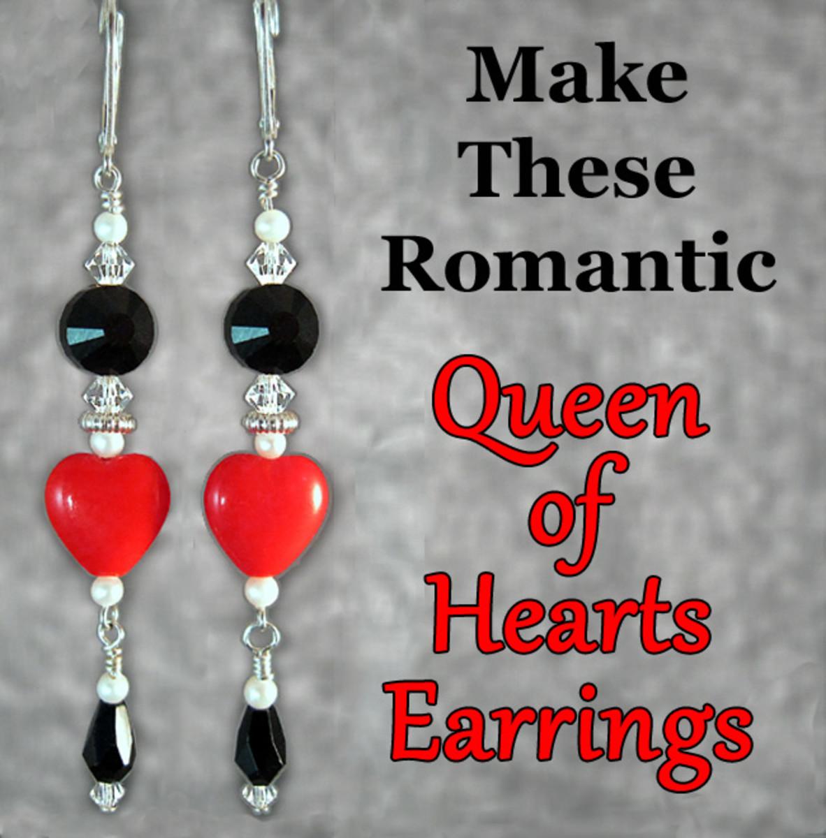Romantic Beaded Heart Earrings Jewelry Tutorial