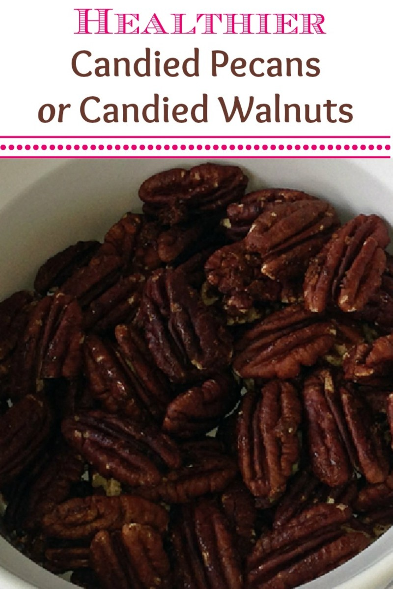Healthier Candied Pecans or Walnuts Recipe