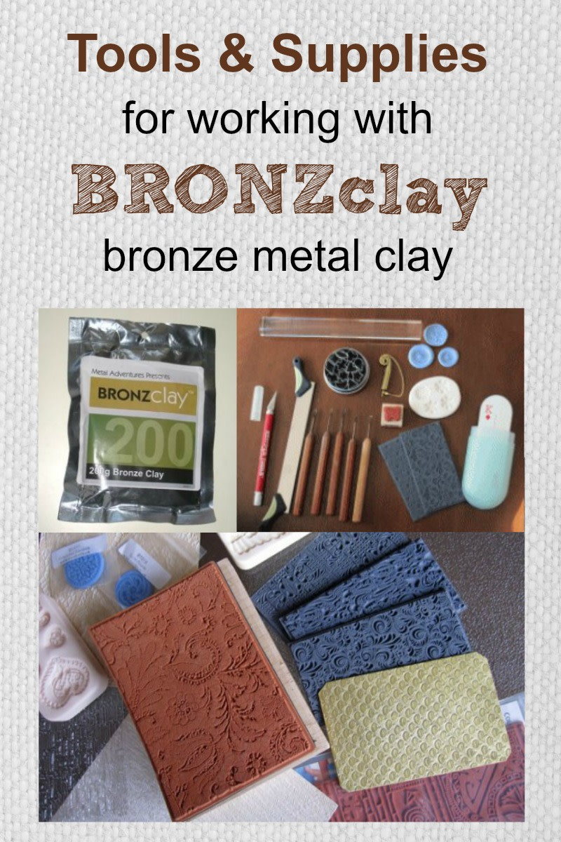 Learn which metal clay tools and supplies you need to create bronze jewelry and sculptures from BRONZclay, including which tools and supplies can be shared with other metal clay types and which need to be dedicated to bronze clay use only.