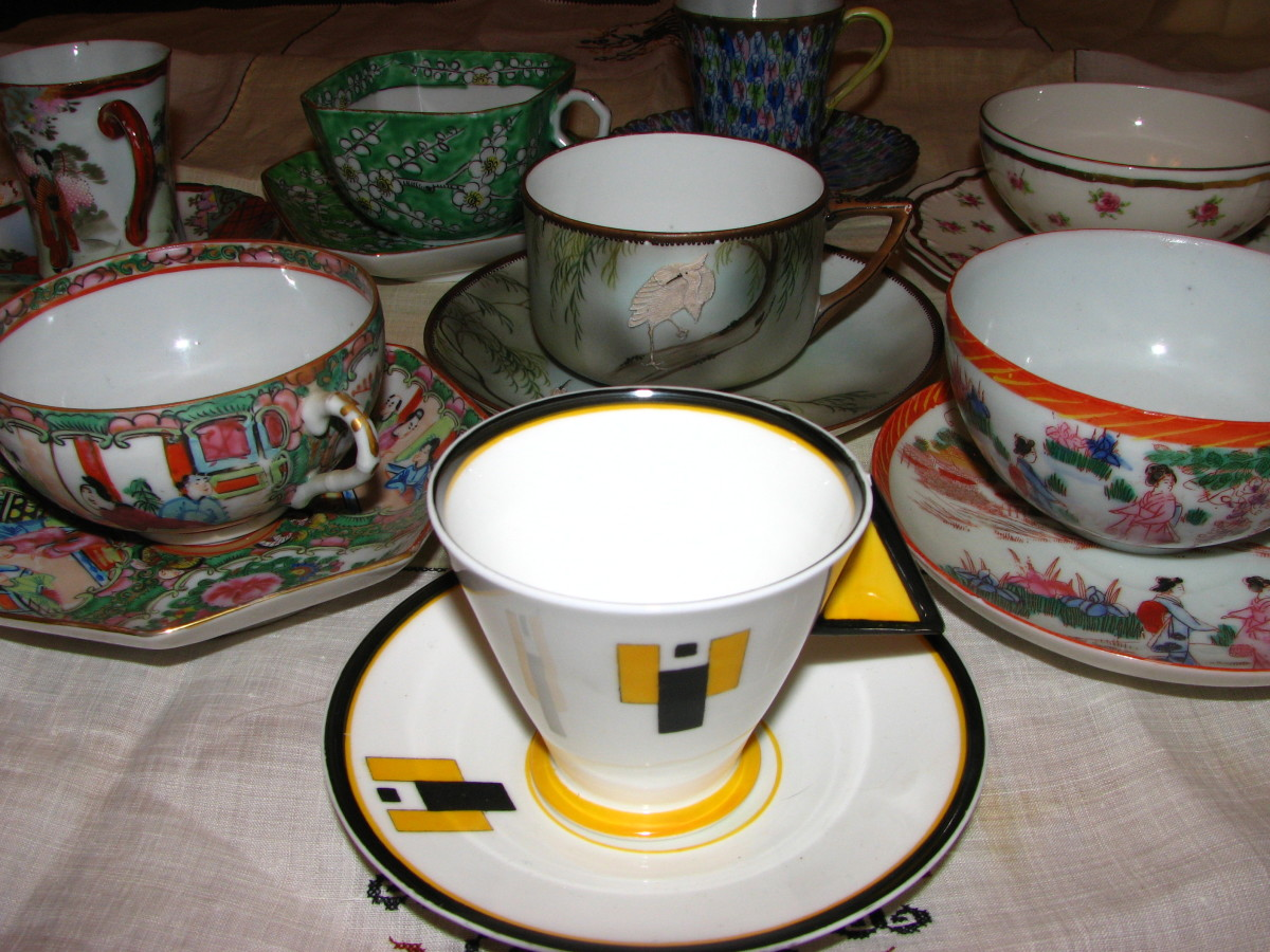 Teacup collection of my cousin, Rhita Gillette