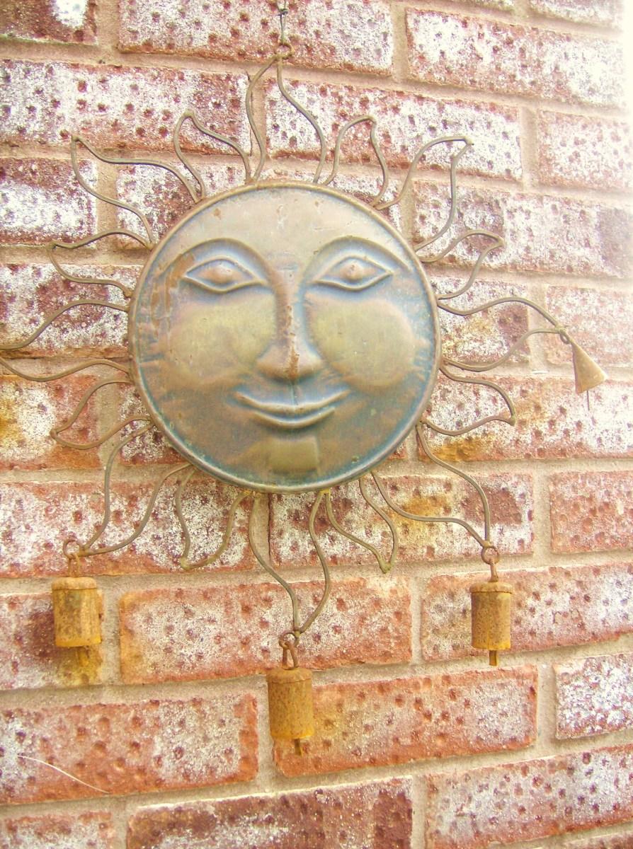Rusty Sun Faced Windchime