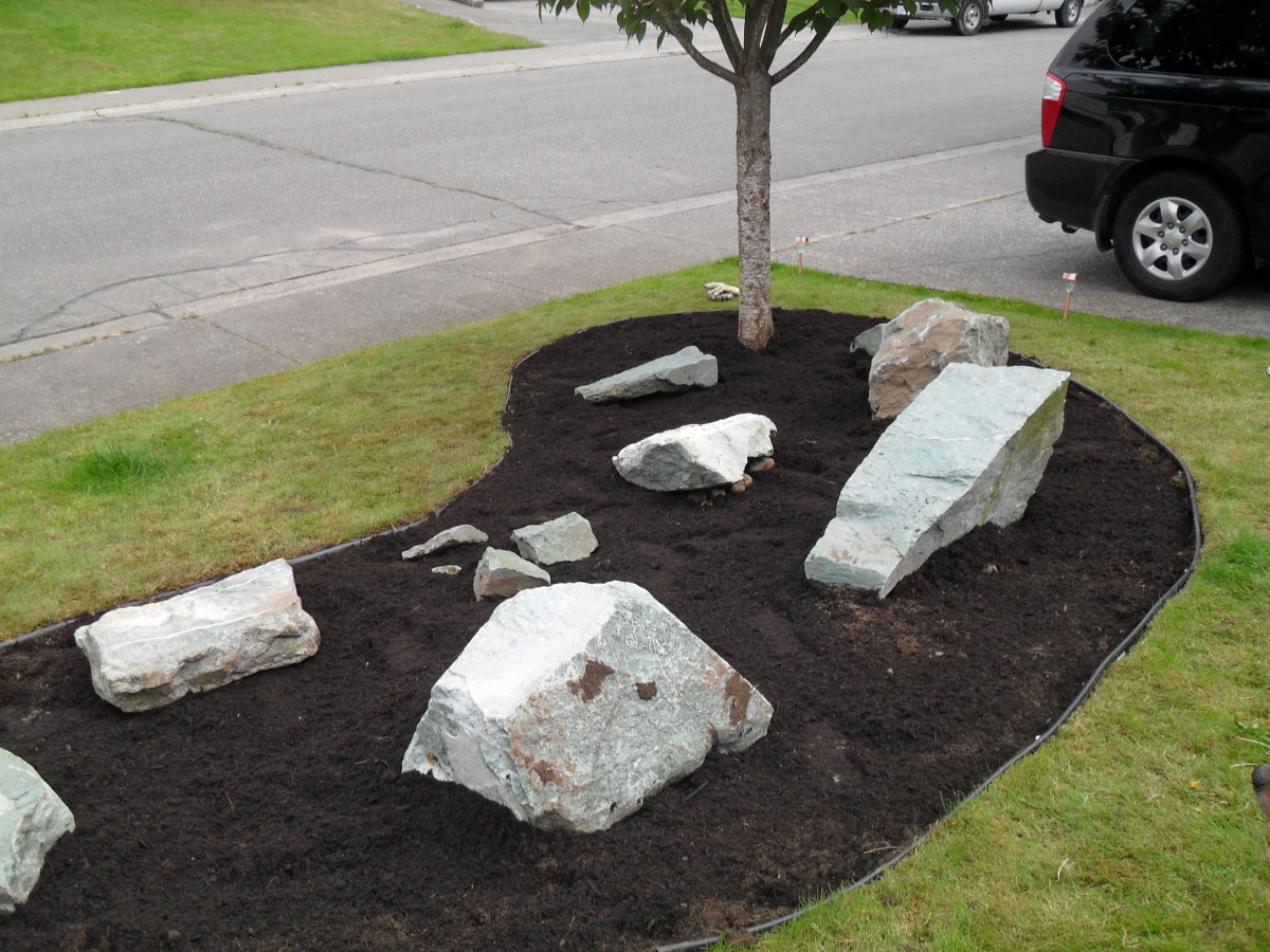 Finished Edging in Our Rock Garden