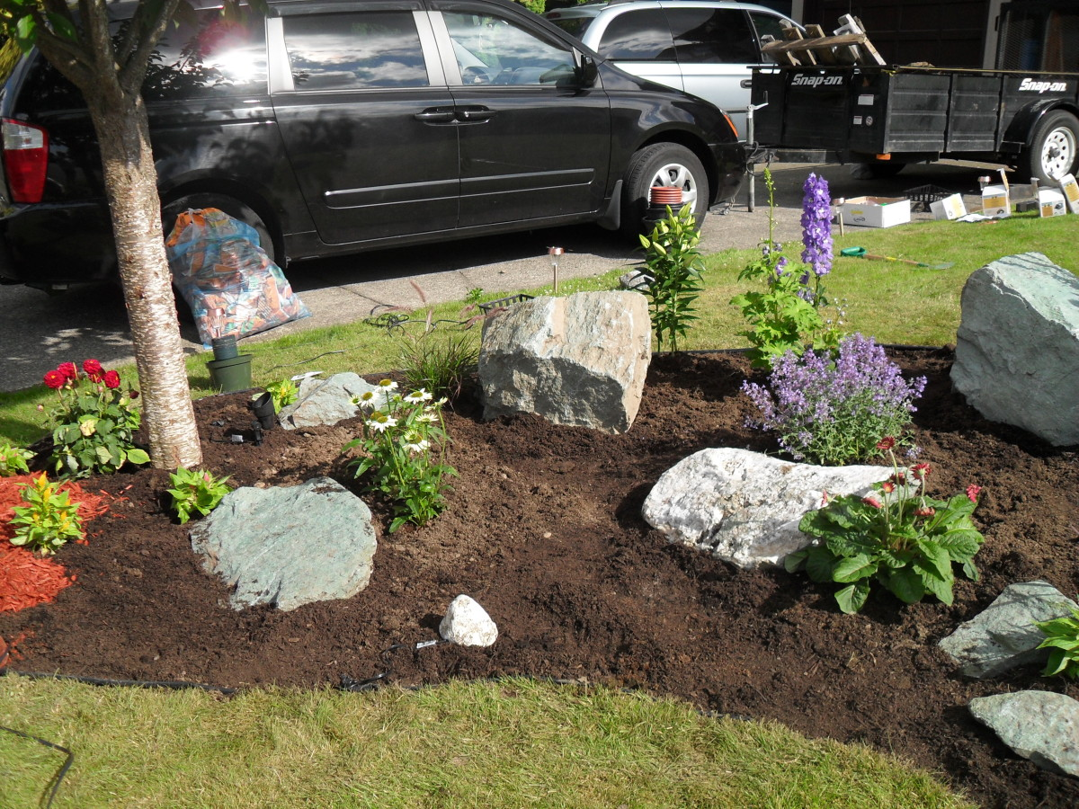Our Rock Garden Before Mulching