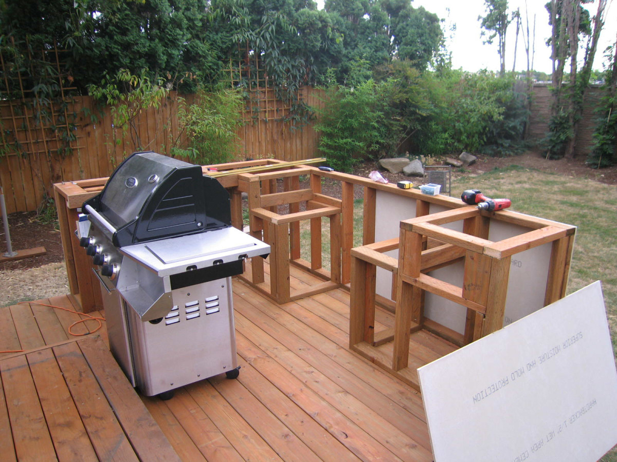 Building outdoor kitchen bbq having fun and saving for Build inn kitchen