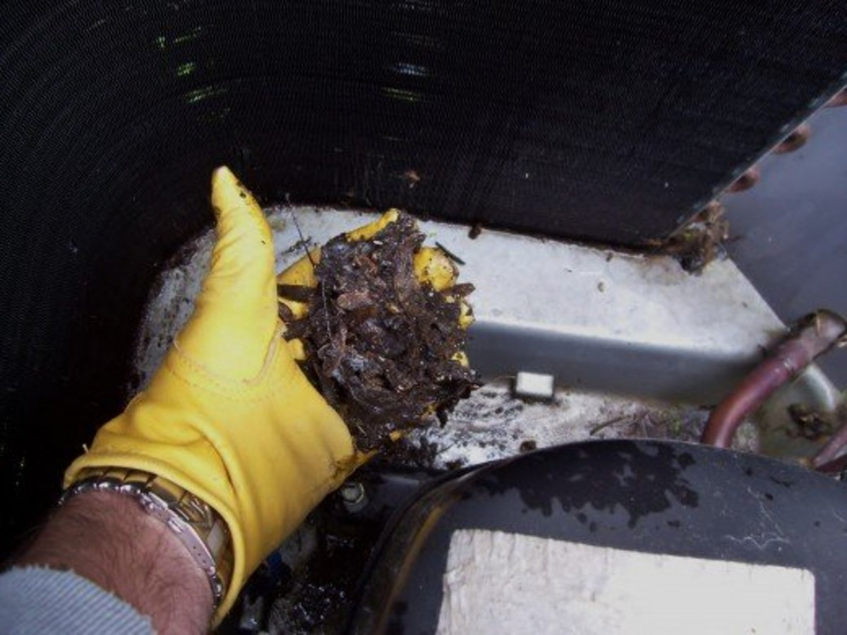 Remove any leaves or other debris inside the unit. This will help prevent corrosion and increase air flow.