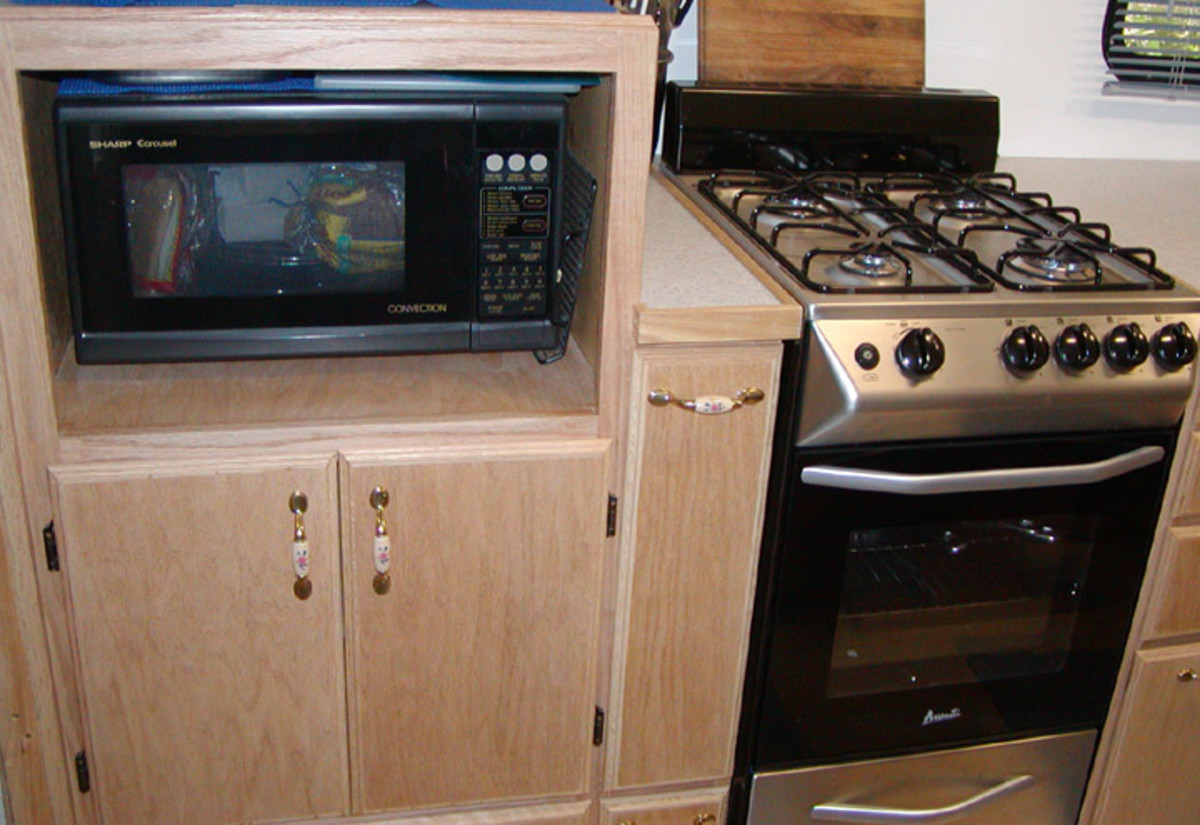Microwave Cabinet In RV