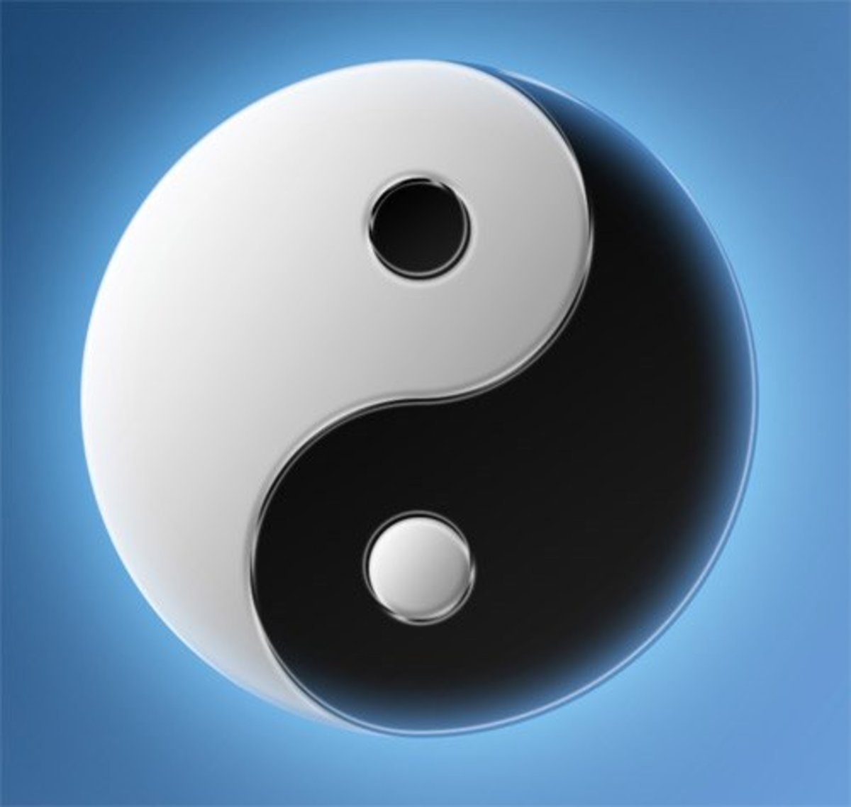 yin (+) and yang (-) provide the basis for I Ching readings.