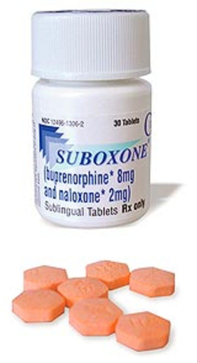 Bottle of Suboxone sublingual tablets