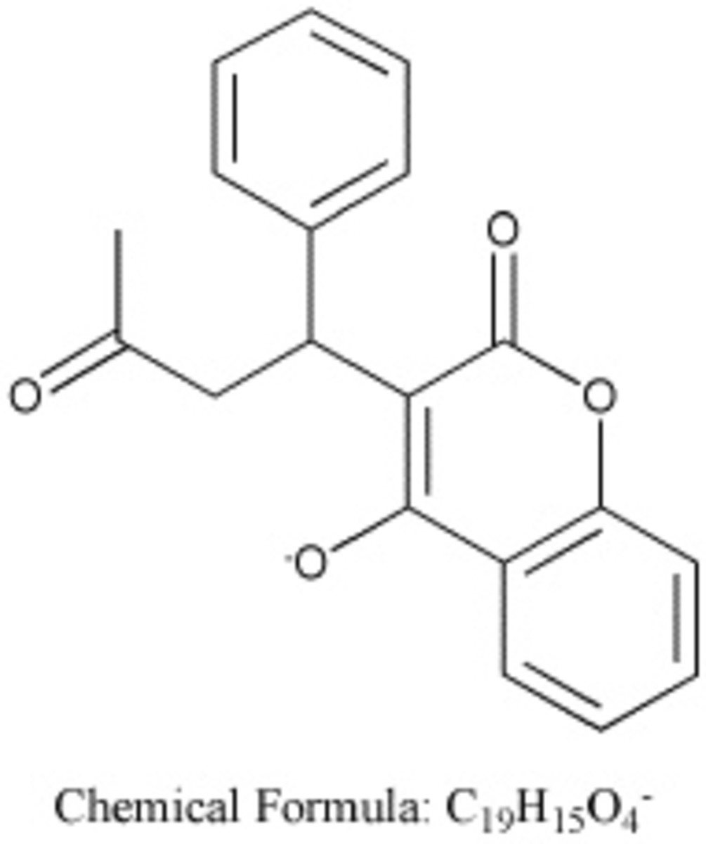 Warfarin chemical structure - thanks to Vitualis on Flickr
