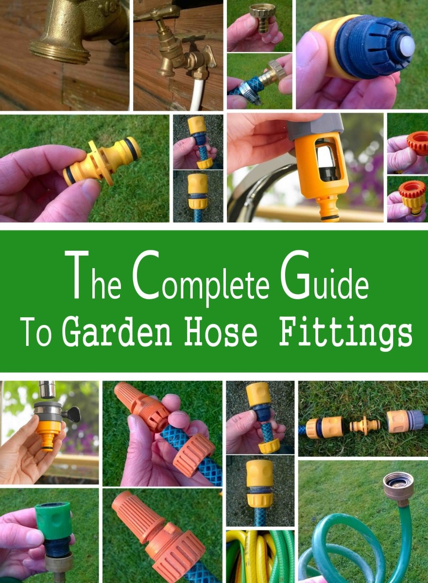 The complete guide to garden hose fittings.