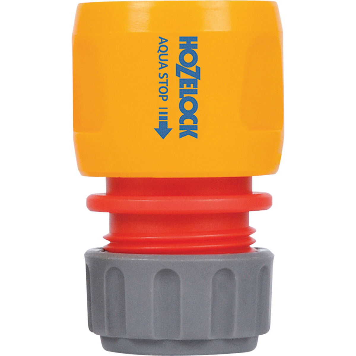 """Hozelock's """"Aquastop"""" hose end connector stops water coming out of the hose when the spray gun is removed"""