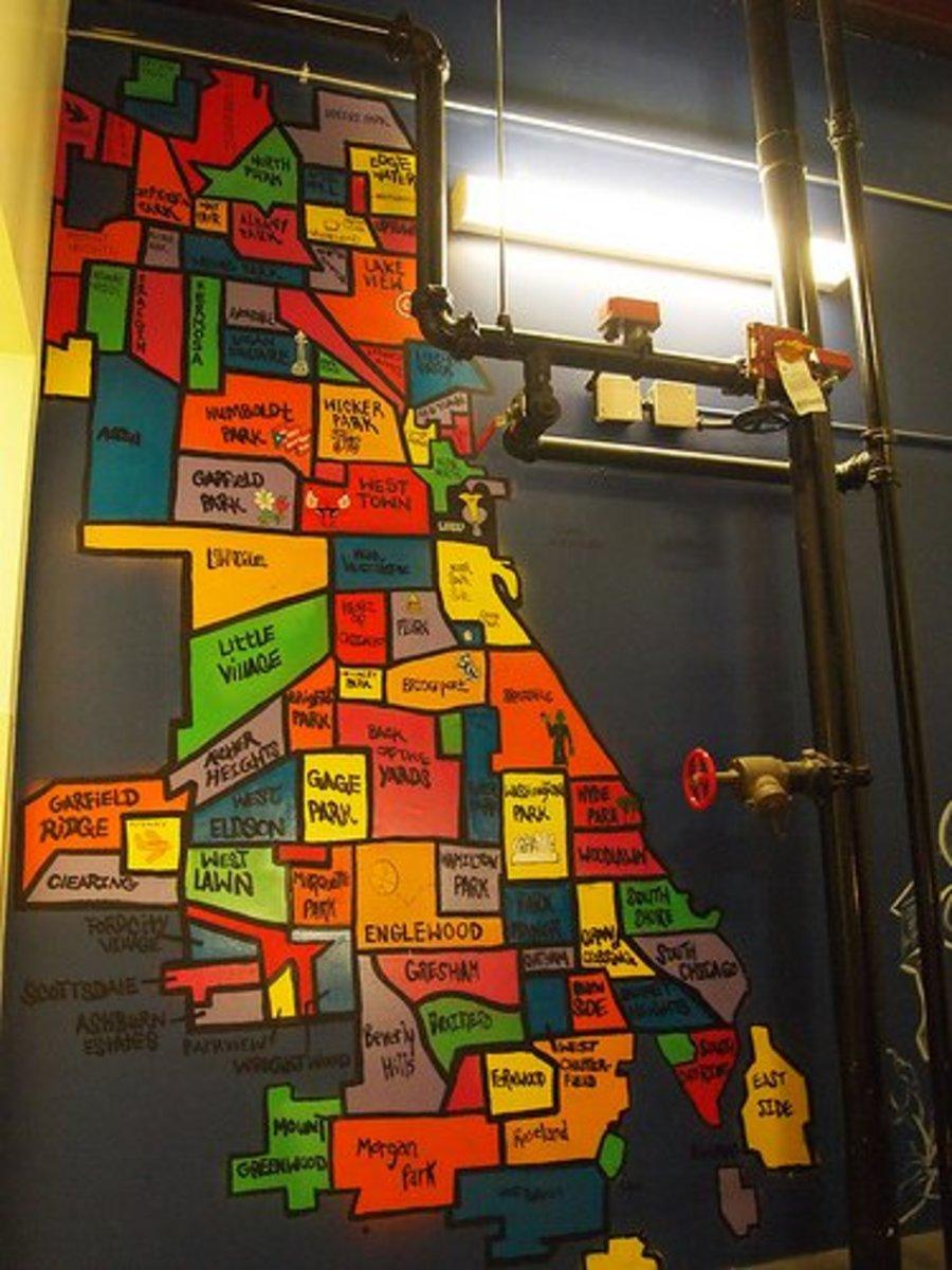 map Chicago communities