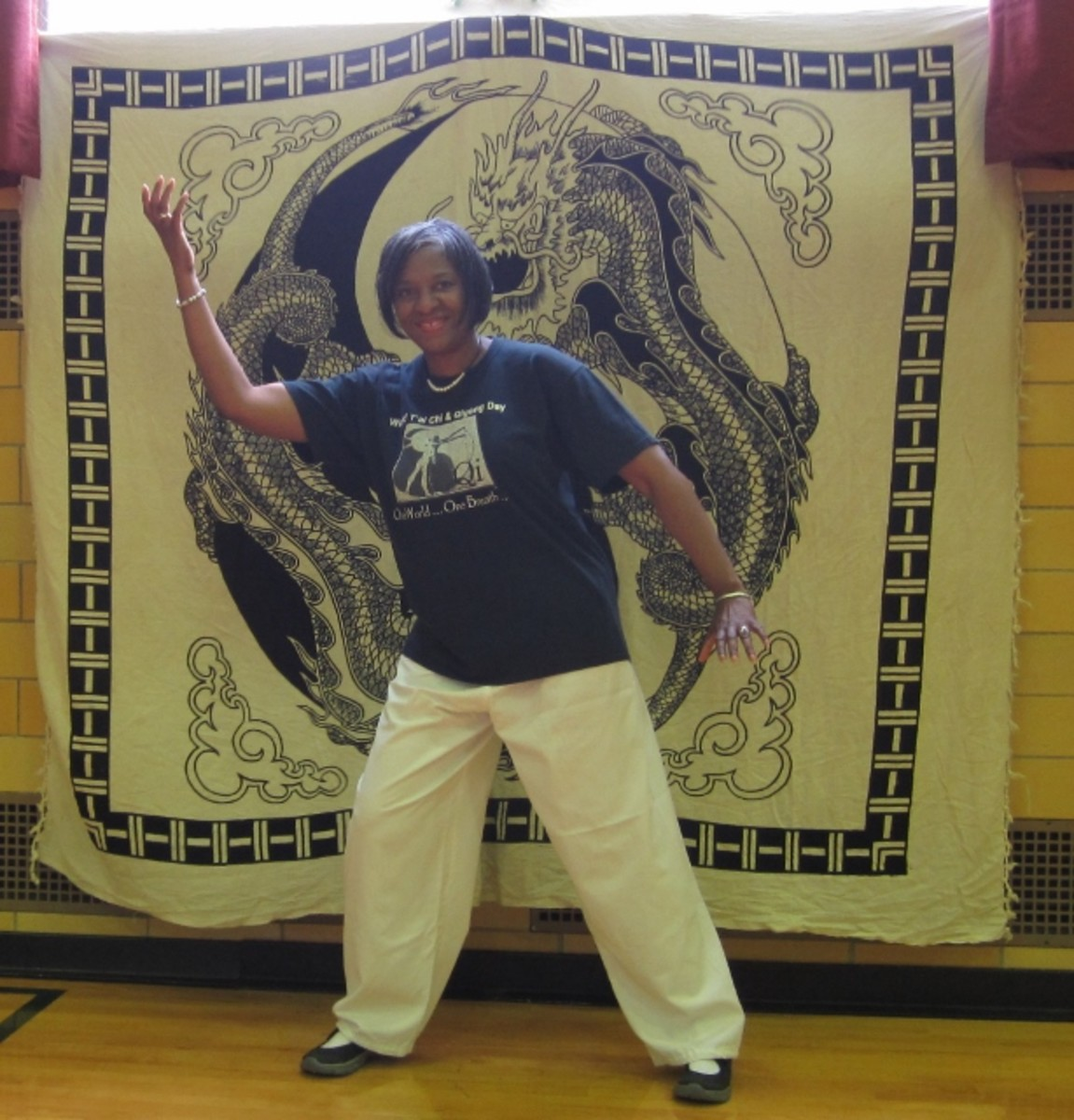 Practicing my tai chi for the camera at our annual World Tai Chi & Qi Gong Day at the Greenbelt Recreation Center, Greenbelt, MD.