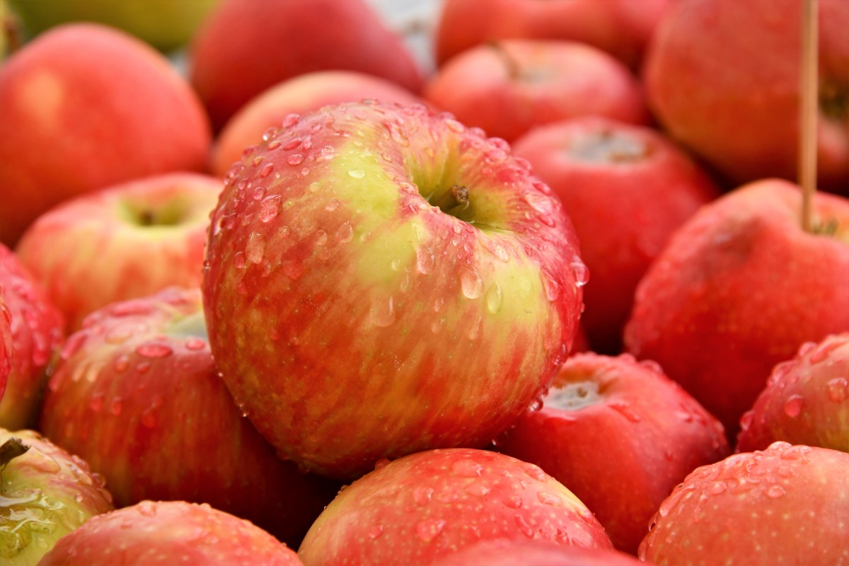 Apples contain soluble fiber that helps to lower LDL cholesterol.