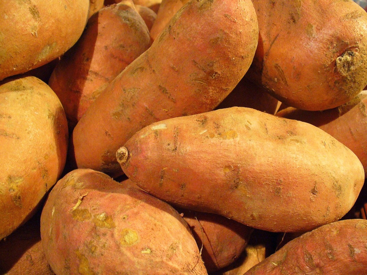 Sweet potatoes have many health benefits and contain soluble fiber.