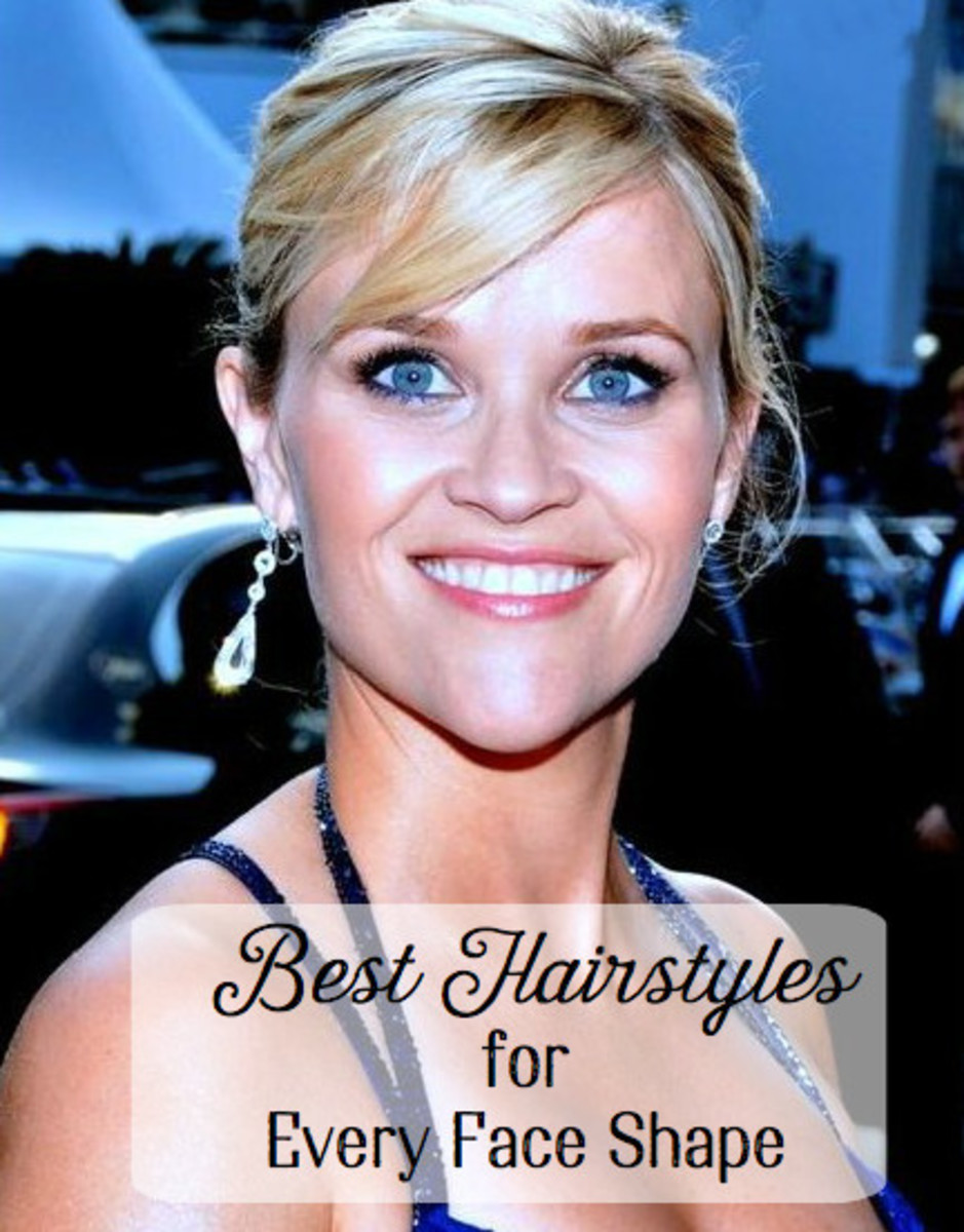 Different face shapes, including Reese Witherspoon's famous heart shape, look best when paired with the right hair style.