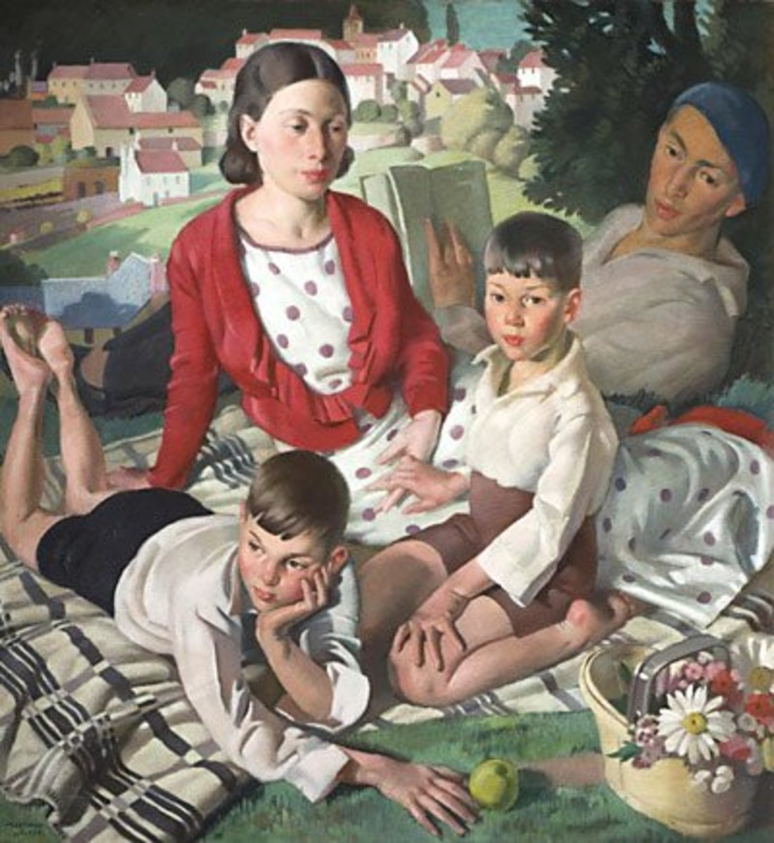 "Fleetwood-Walker Painting ""The Family"" 1932"