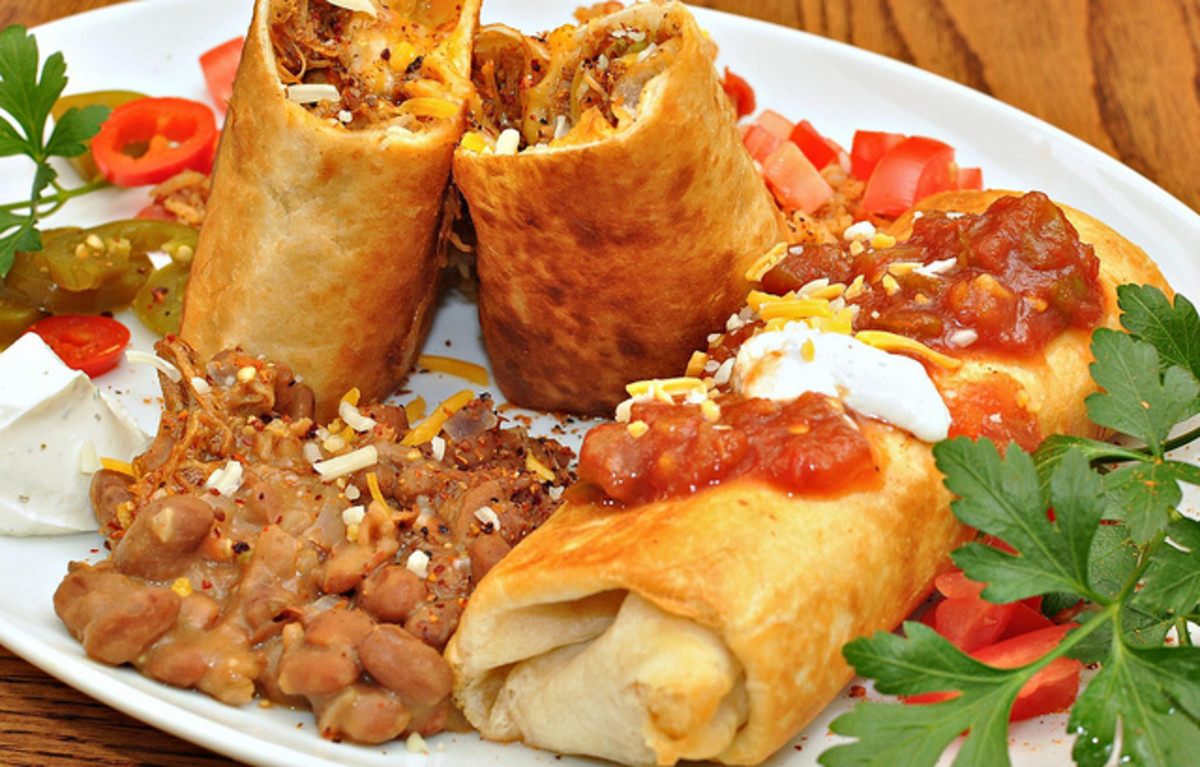 How to Make a Grilled Chicken Chimichanga: A Fried Mexican Burrito!
