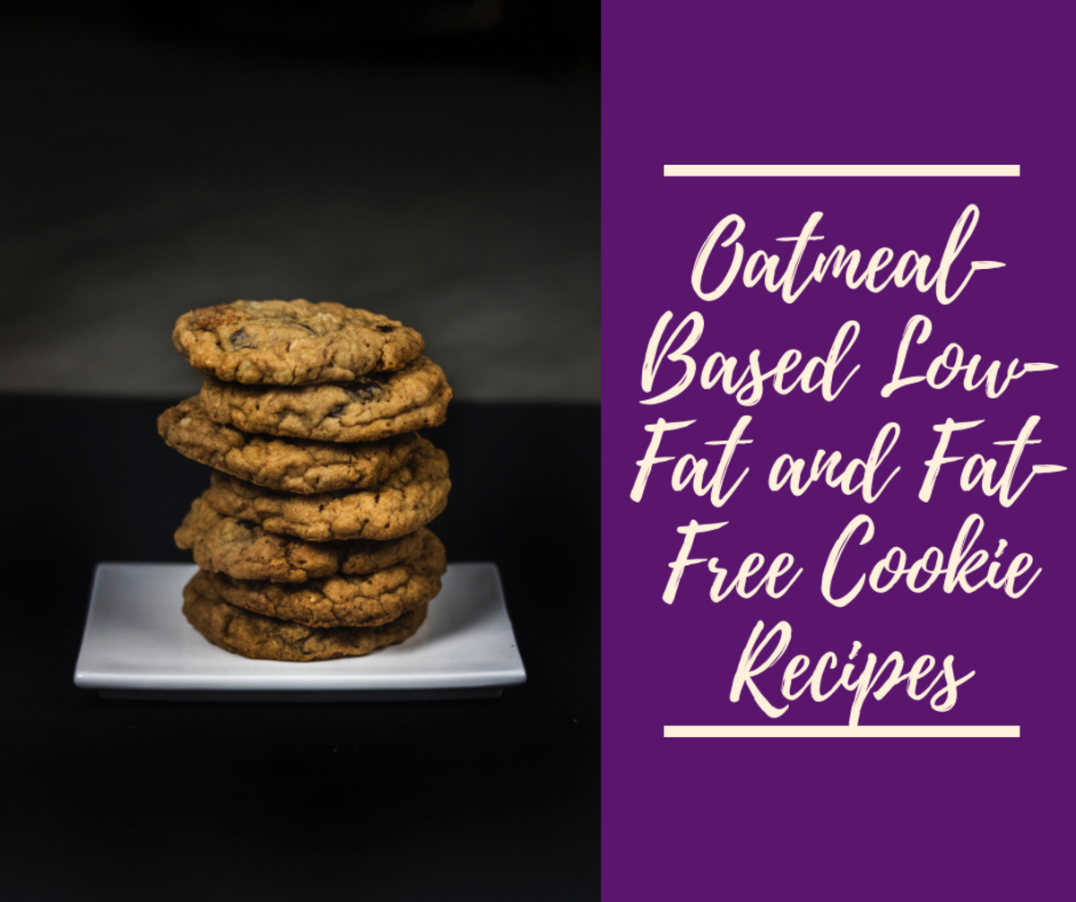 Oatmeal-Based Low-Fat and Fat-Free Cookie Recipes