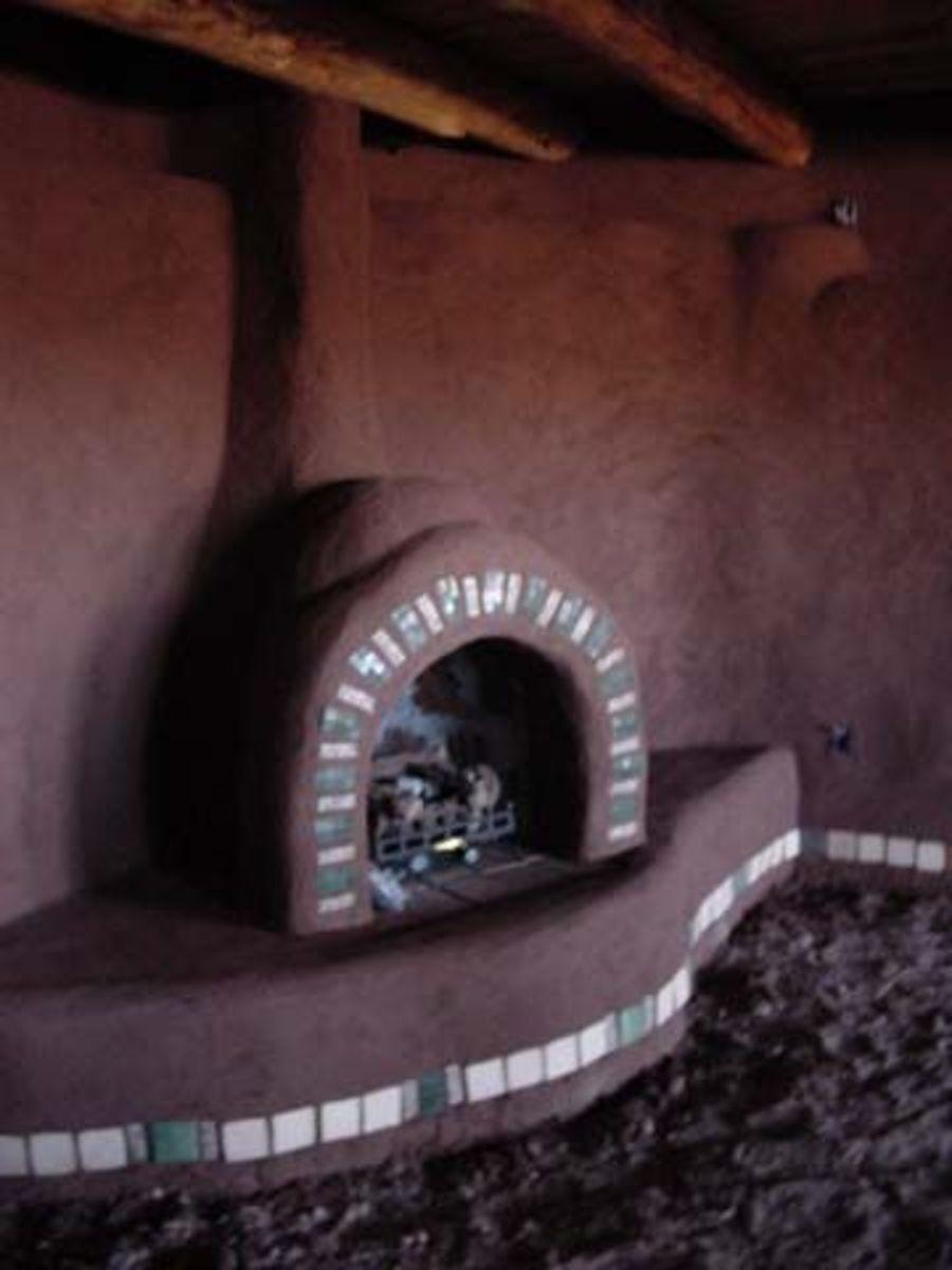 Finished fireplace.
