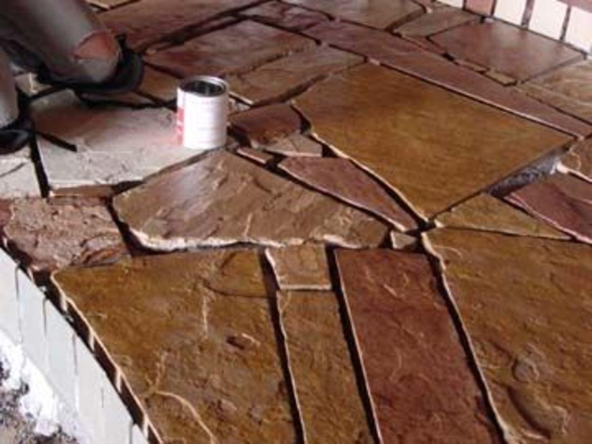 Flagstone floors.