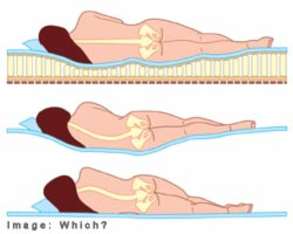A proper mattress should keep your spine straight when you lay on your side.