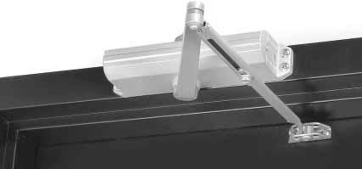 Surface mounted closer, top jamb installation.