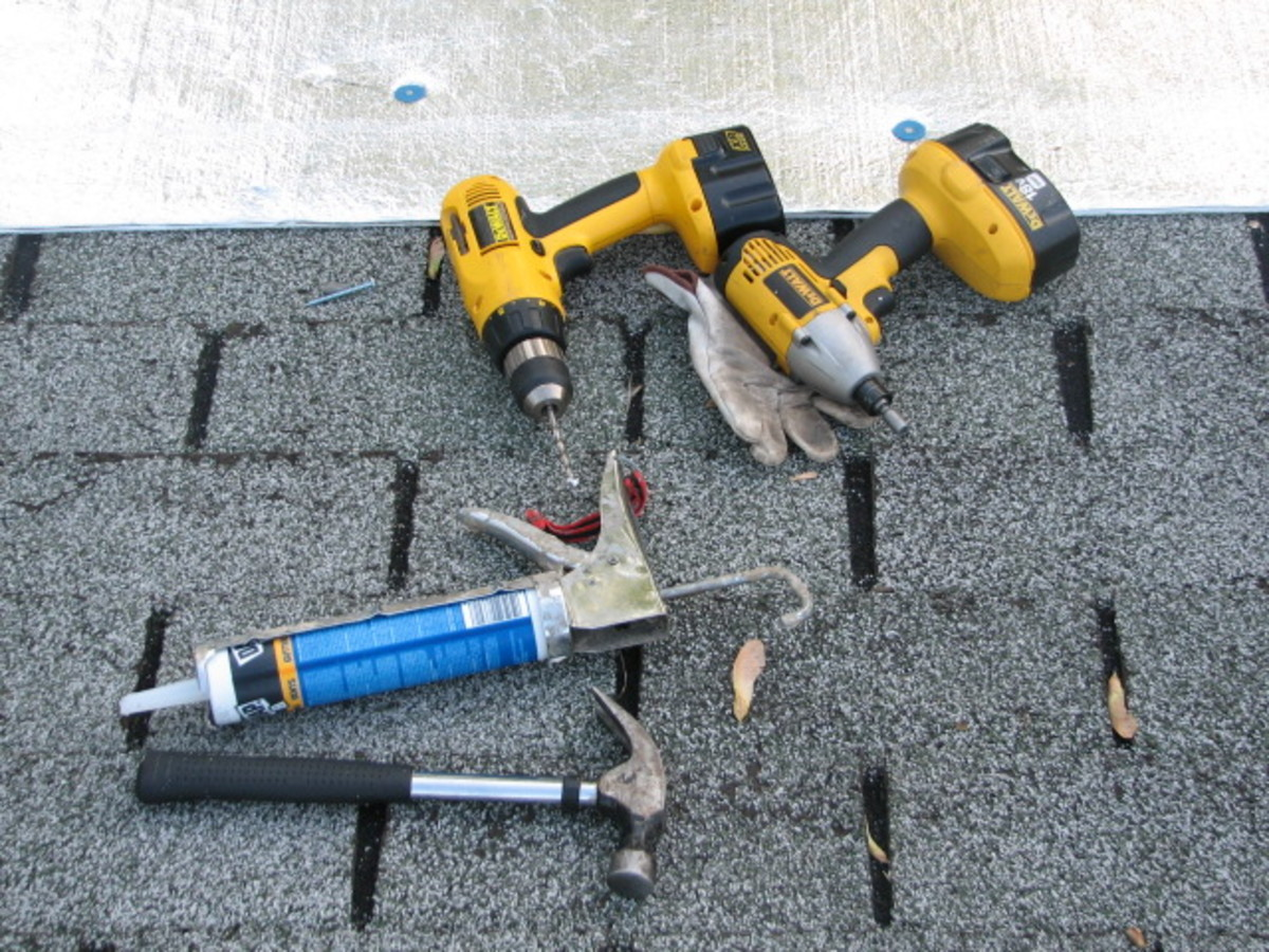 drills and drivers and a good caulk gun are just a few of the tools needed to do this project your self