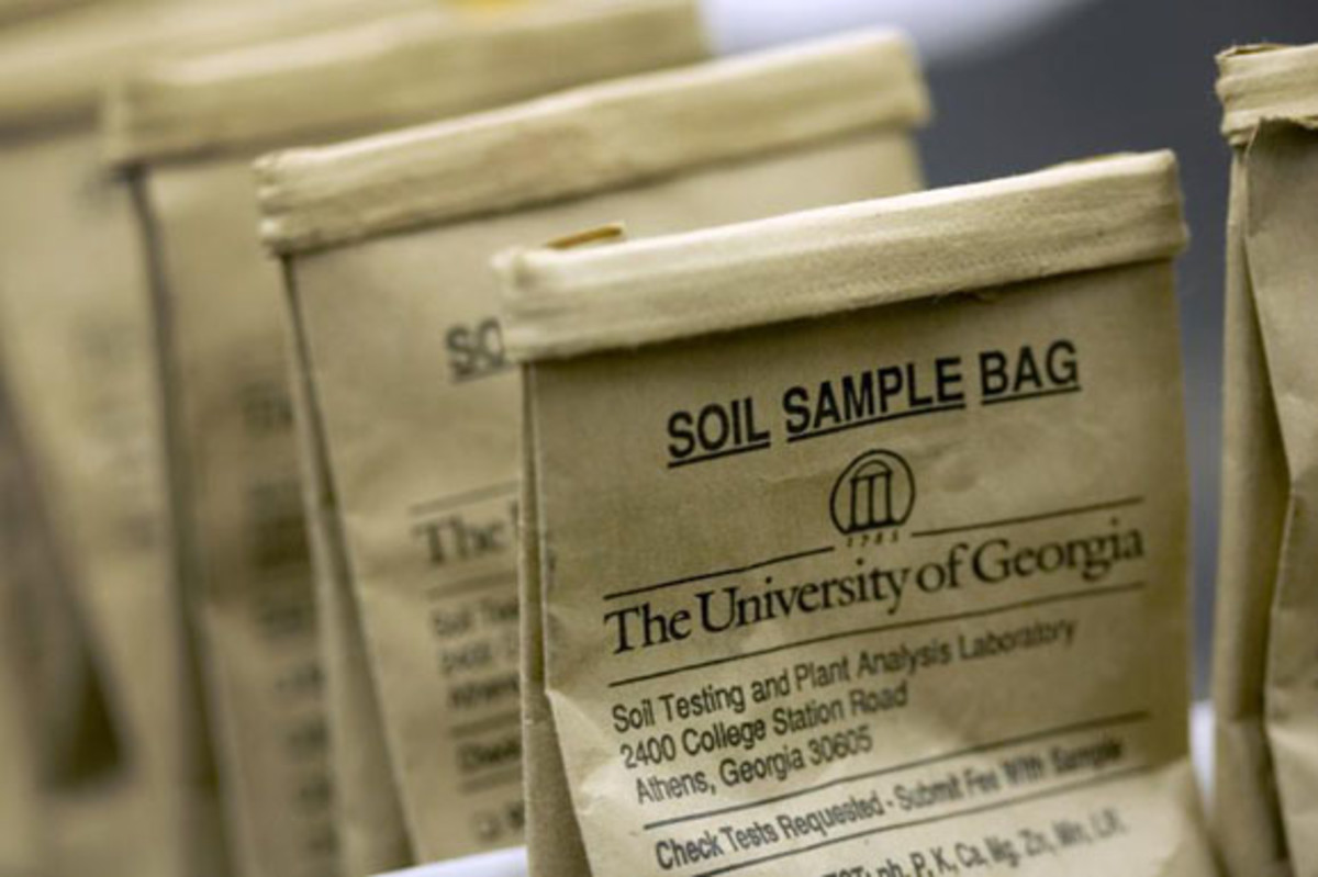 Place soil samples in bags or boxes supplied by the testing lab.