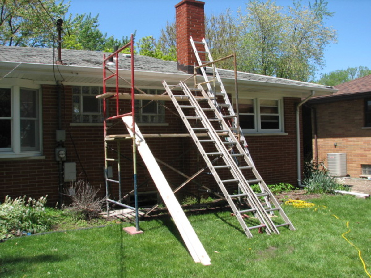 ladders and scaffolding are a must