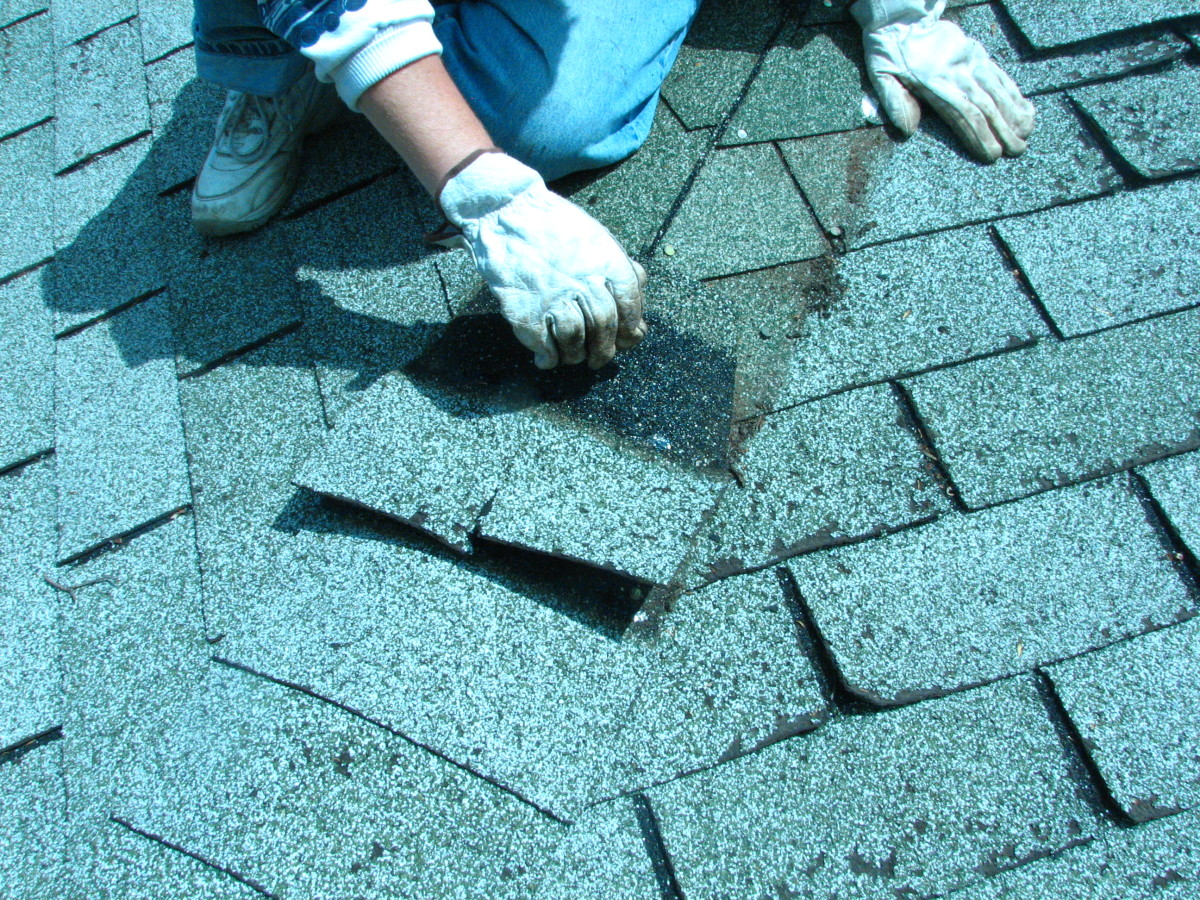 remove the double layers of shingle where necessary