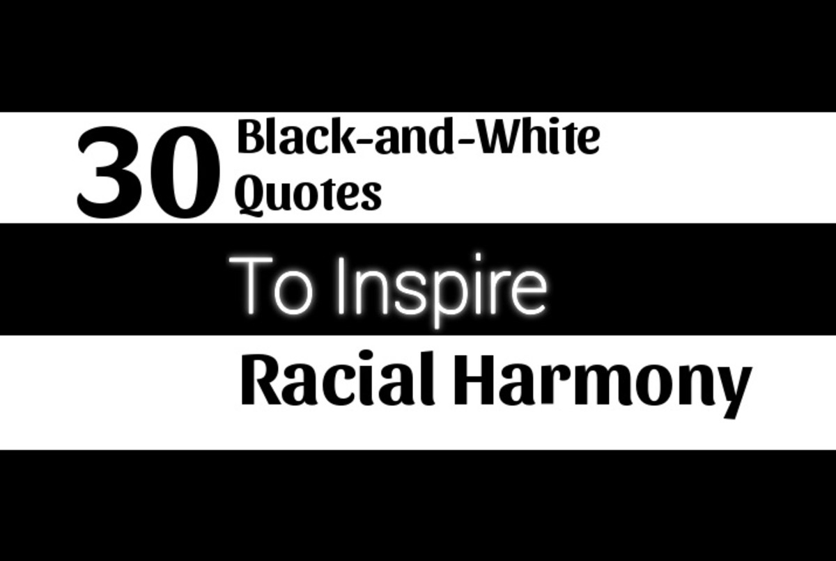 30 Black-and-White Quotes to Inspire Racial Harmony