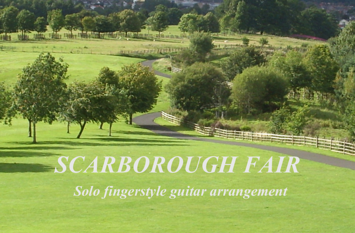 Scarborough Fair: Fingerstyle Guitar Arrangement in Notation, Tab and Audio