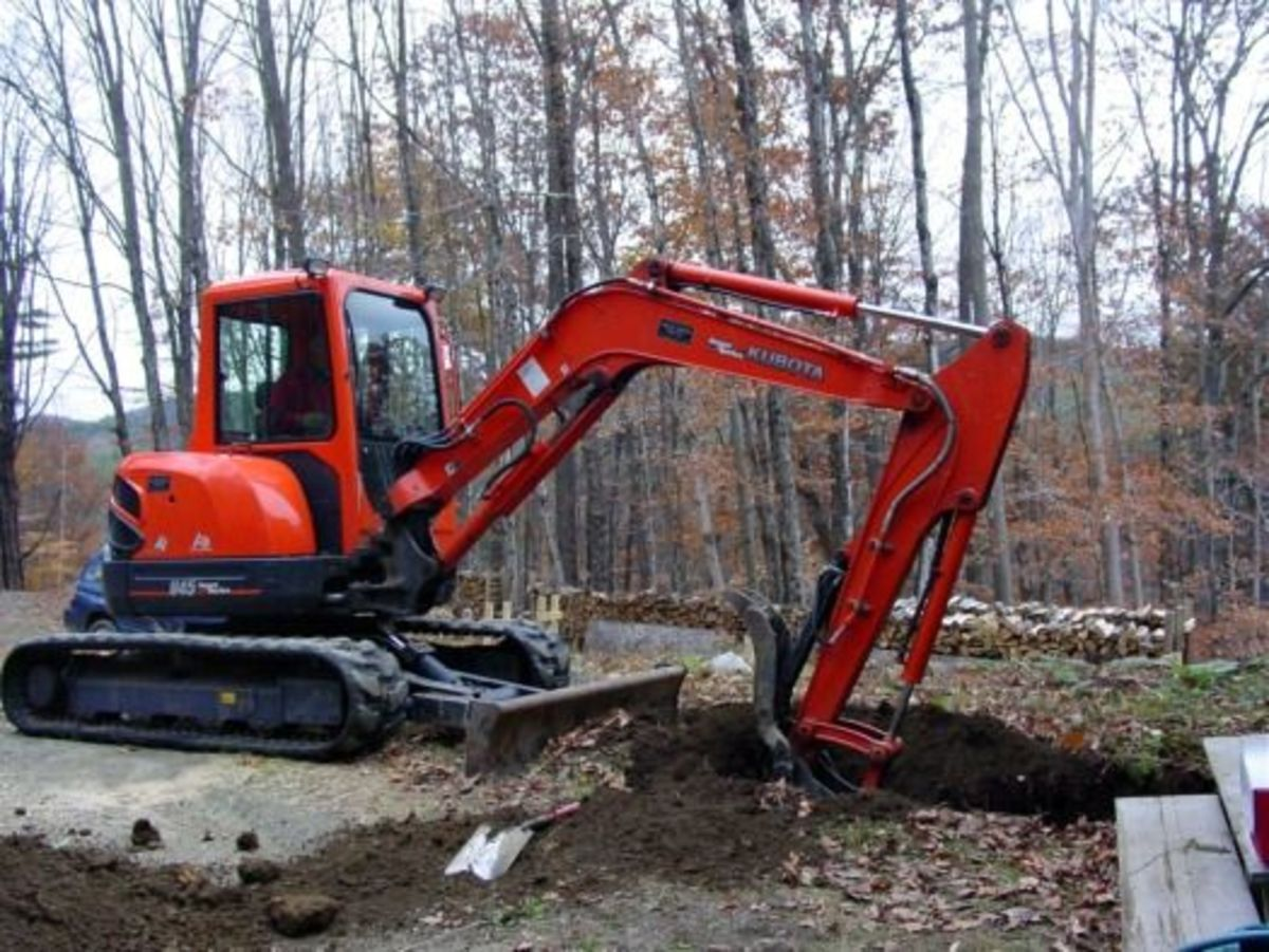 Excavating for root cellar
