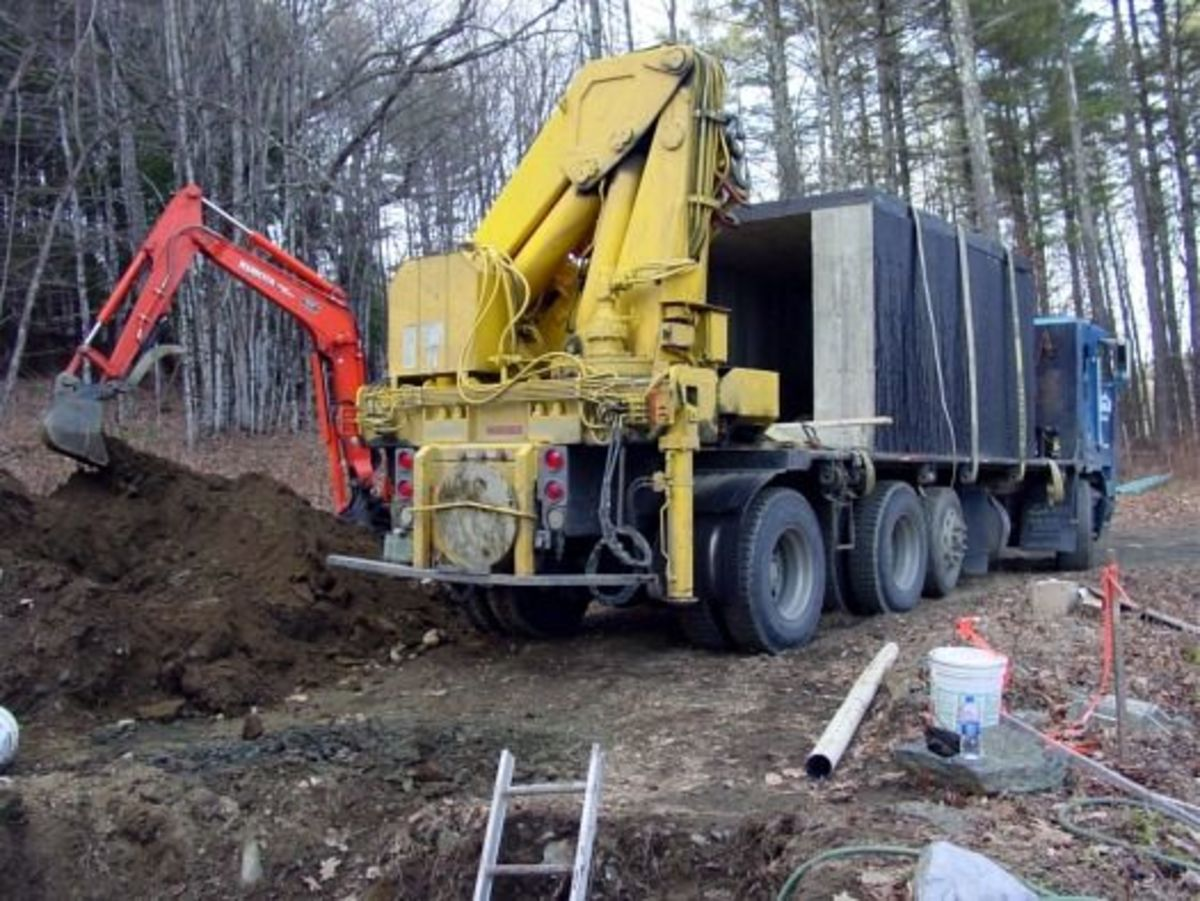 Root cellar arrives on truck
