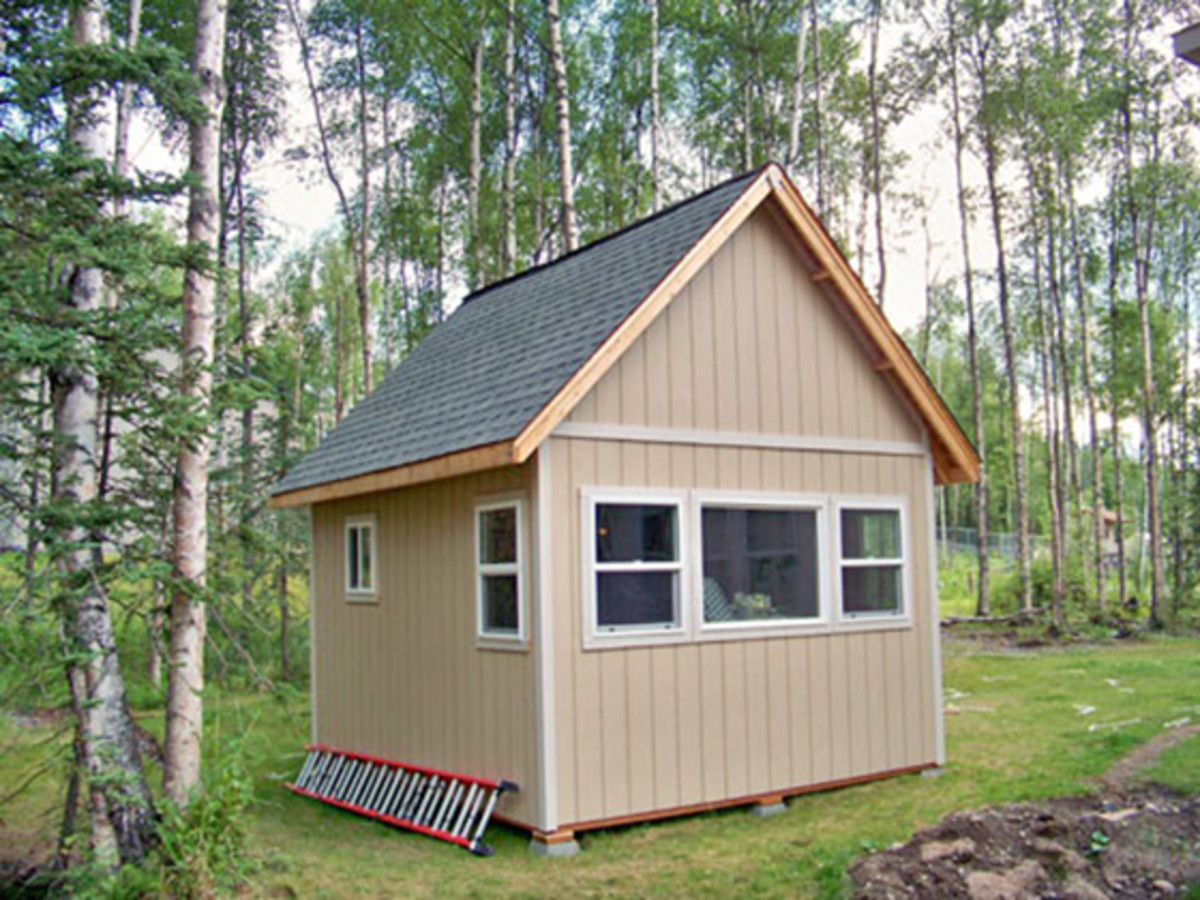 Gable sheds work well with most climates and house styles, and they give you an abundance of space within the roof rafters.