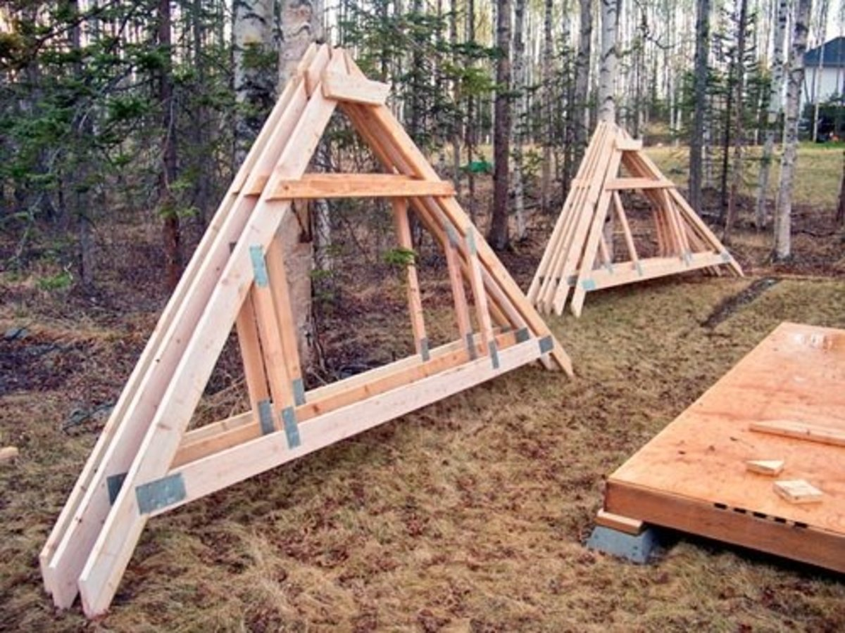 Before framing the walls, take advantage of the flat, open floor to build the trusses.