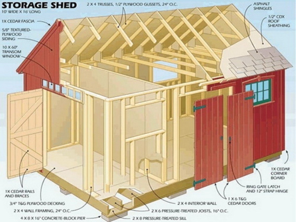 3d cut-away view of the gable shed plan - door and window placements moved around.