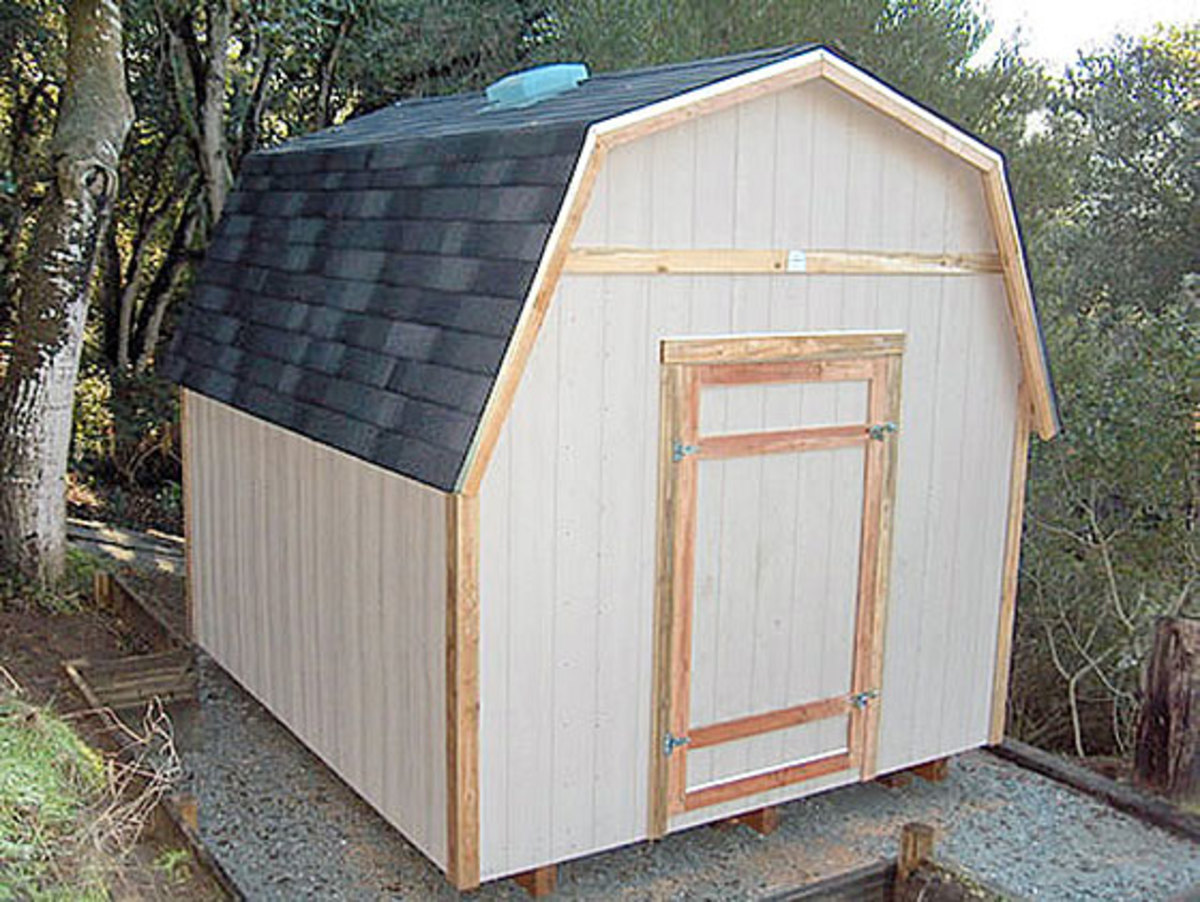 If a back-home, country barn look is what you desire, then a gambrel shed might be for you.