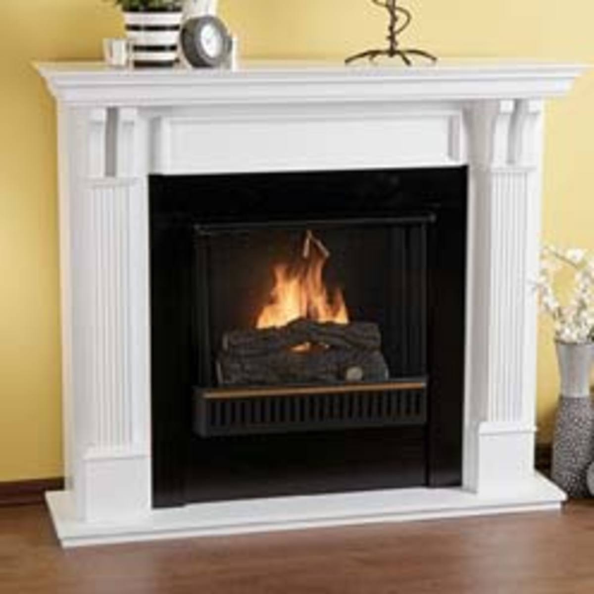 A more traditional fireplace for gel fuel application