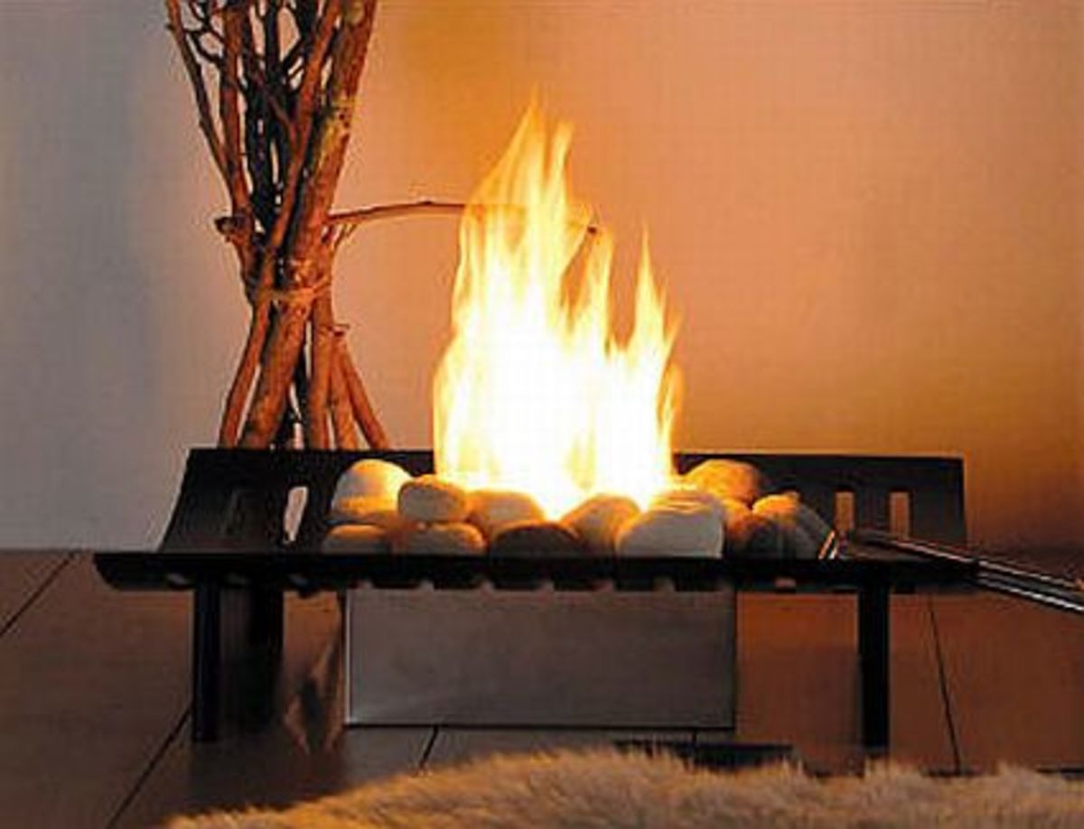 A completely non-traditional fireplace for gel fuel application.