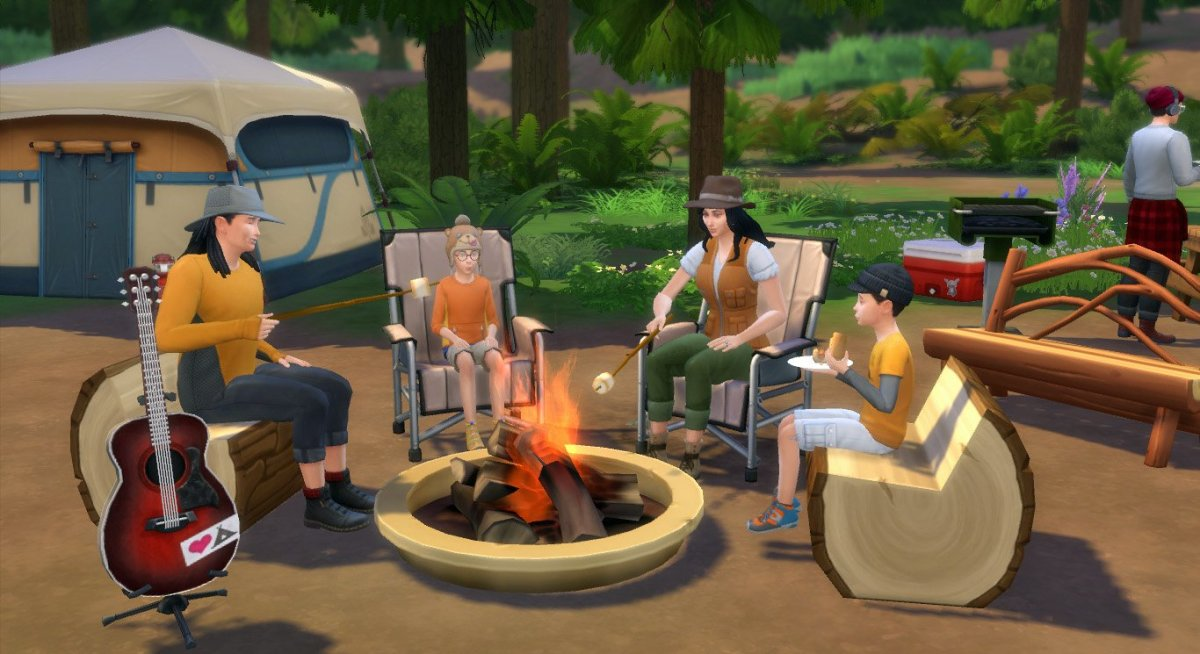 """""""The Sims 4: Outdoor Retreat"""" gives your Sims a vacation destination. If your Sims were in need of a vacation, honeymoon or if they just love the outdoors, they're going to love this game pack."""