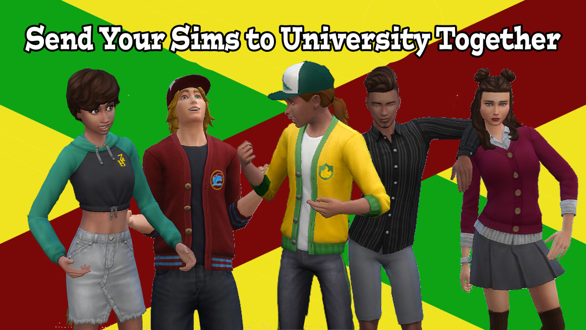 "University in ""The Sims"" is more fun with friends!"